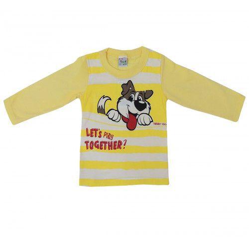 Camiseta Infantil Manga Longa com Estampa de Cachorro