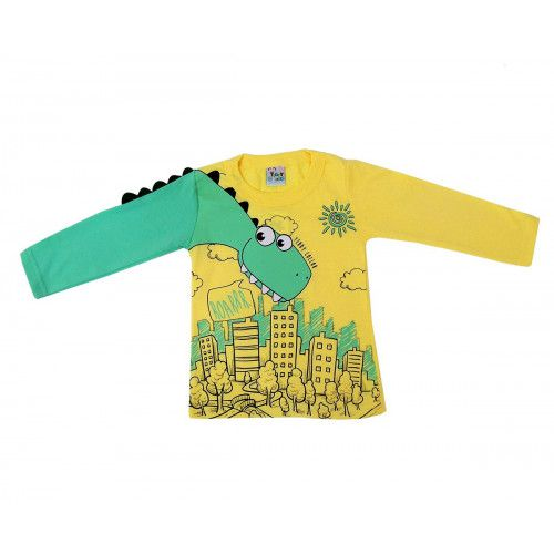 43ebe7141 Camiseta Infantil Meia Malha Dinossauro