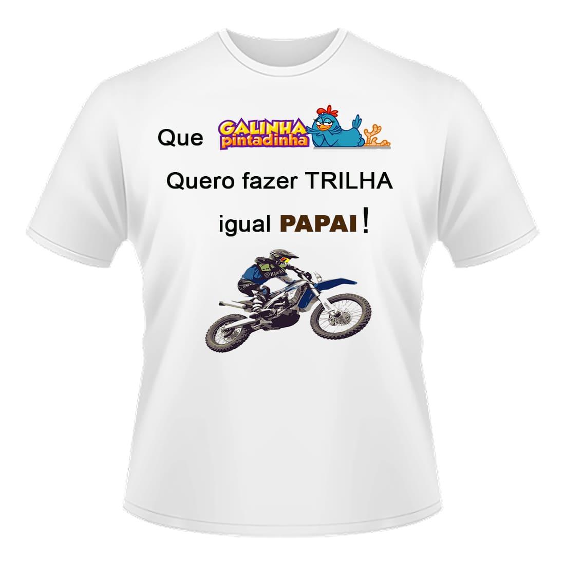 Camiseta Infantil Personalizada Quero Trilha