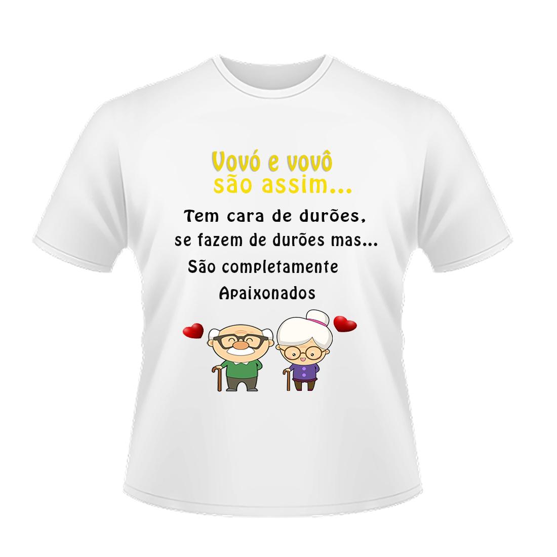 Camiseta Infantil Personalizada Vovó e vovô