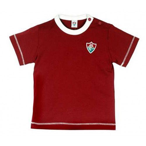 Camiseta Meia Malha Bebê Menino Fluminense
