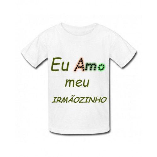 Camiseta personalizada infantil meu irmãozinho