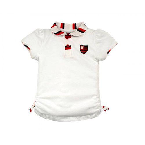 Camiseta Polo Infantil do Flamengo Menina