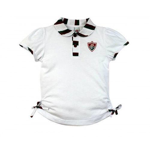 602fa26623e3b Camiseta Polo Infantil do Fluminense Menina