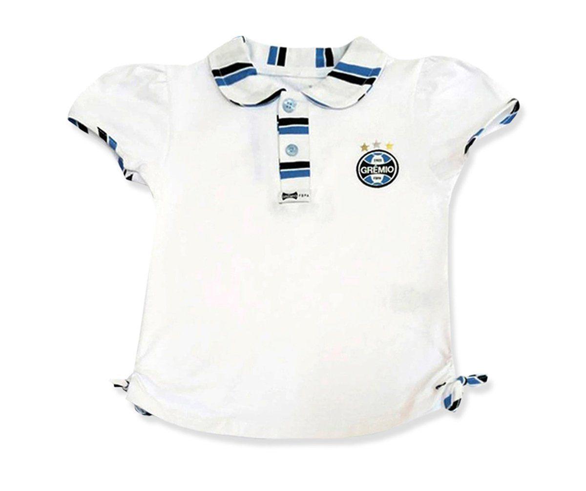 Camiseta Polo Infantil do Grêmio Menina