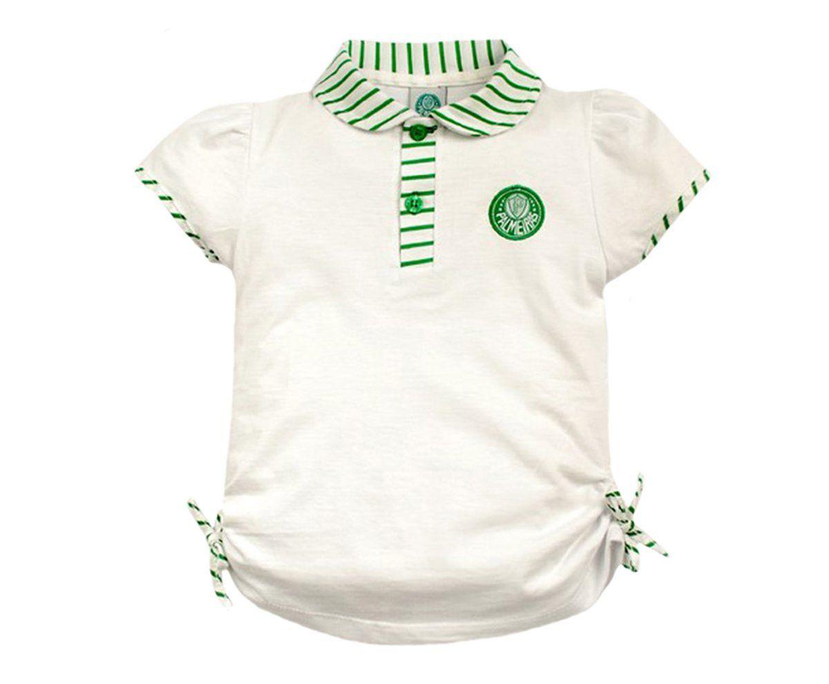 Camiseta Polo Infantil do Palmeiras Menina
