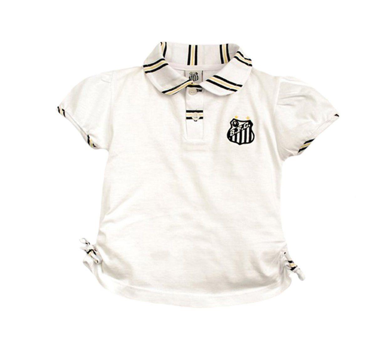 Camiseta Polo Infantil do Santos Menina