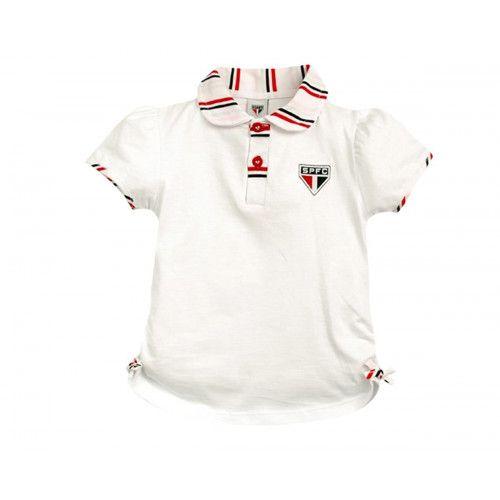 Camiseta Polo Infantil do São Paulo Menina a494f2cfe9b