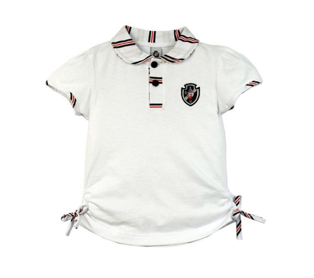 Camiseta Polo Infantil do Vasco Menina