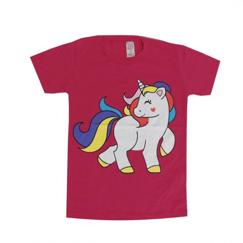 Camiseta Unicórnio Infantil Menina Manga Curta