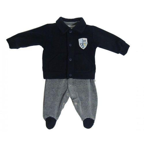 Casaco Azul Marinho e Macacão Daniel Bebê
