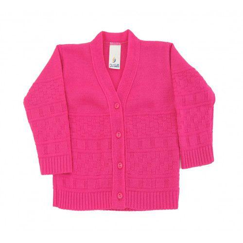 Casaco de Lã em Tricot Infantil Feminino