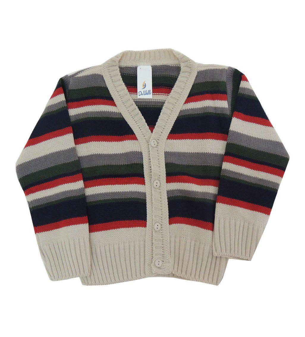 Casaco de Lã Listrado Infantil Masculino
