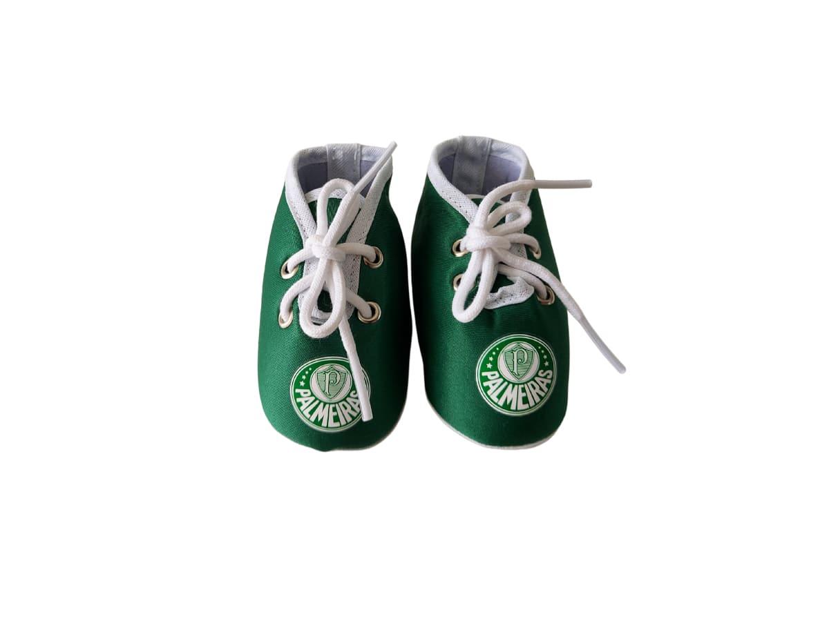 Chuteira Bebê Palmeiras Tecido Verde - Licenciada