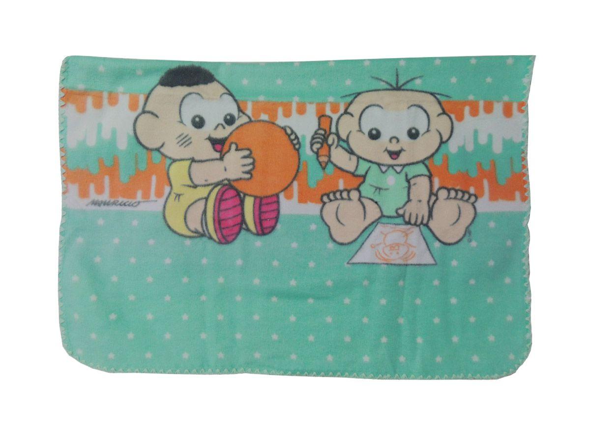 Cobertor Bebê Menino Turma da Mônica 90 cm x 1,10 m Estampado