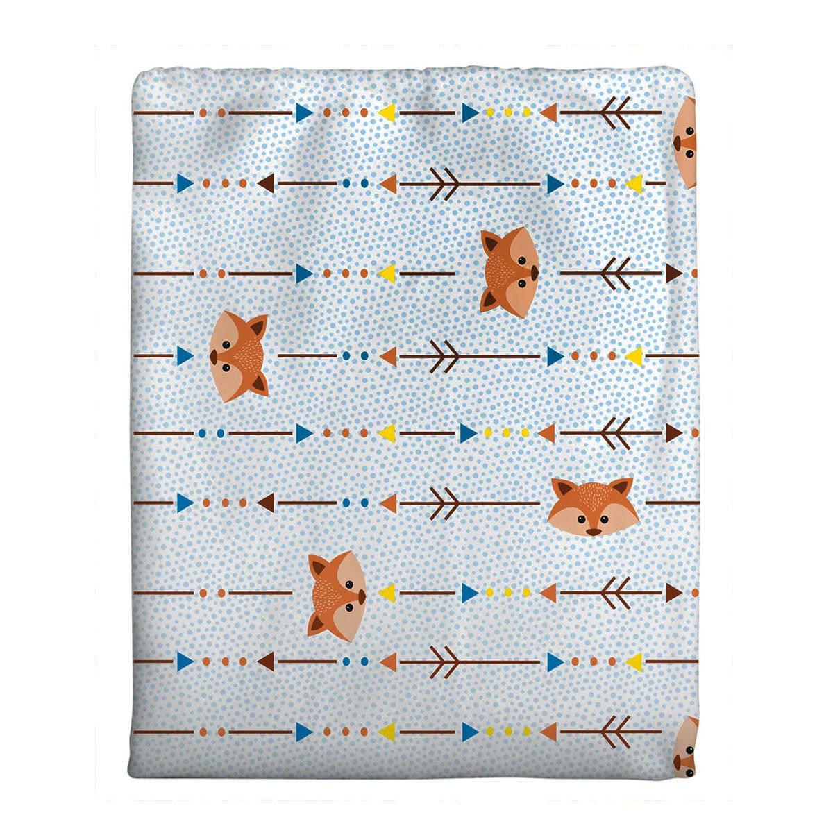 Cobertor Bercinho Flanelado - Raposinha
