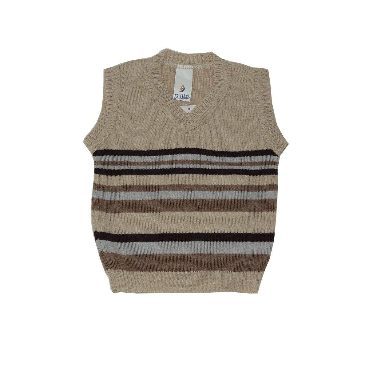 Colete Infantil de Lã com Listras Masculino