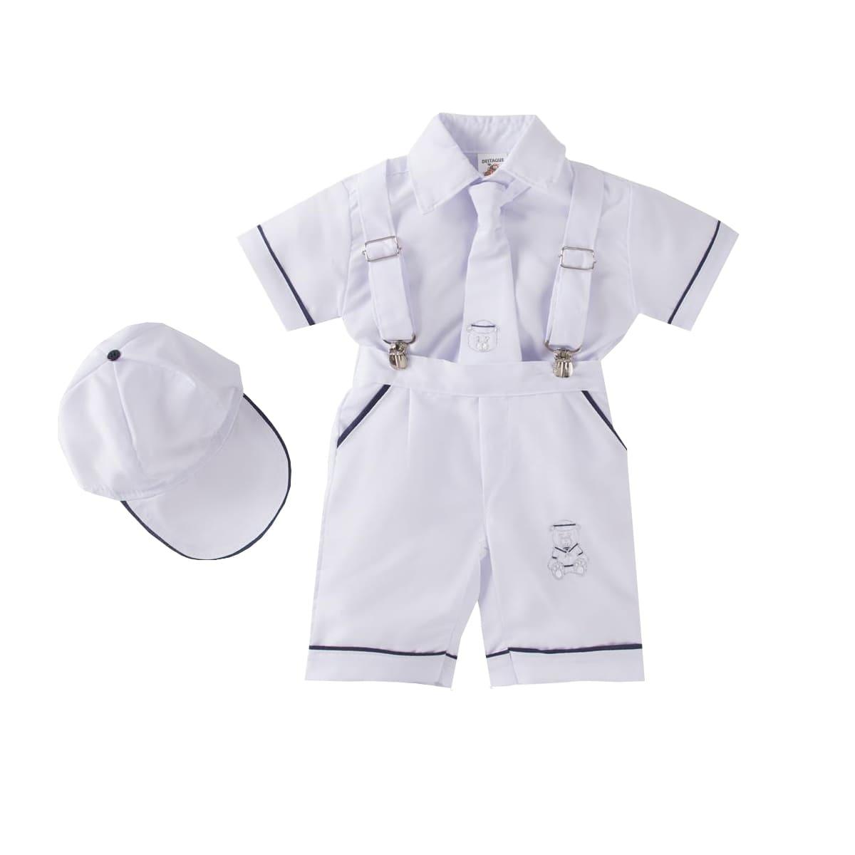 Conjunto Bebê Batizado 4 Peças