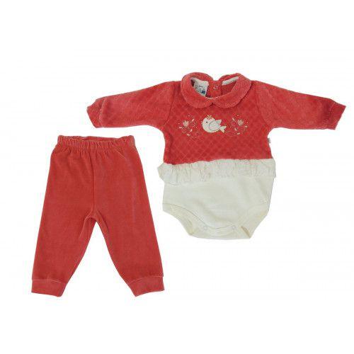Conjunto Bebê Body e Calça Suedine - Curioso