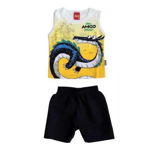Conjunto Bebê Menino Camiseta Regata e Shorts