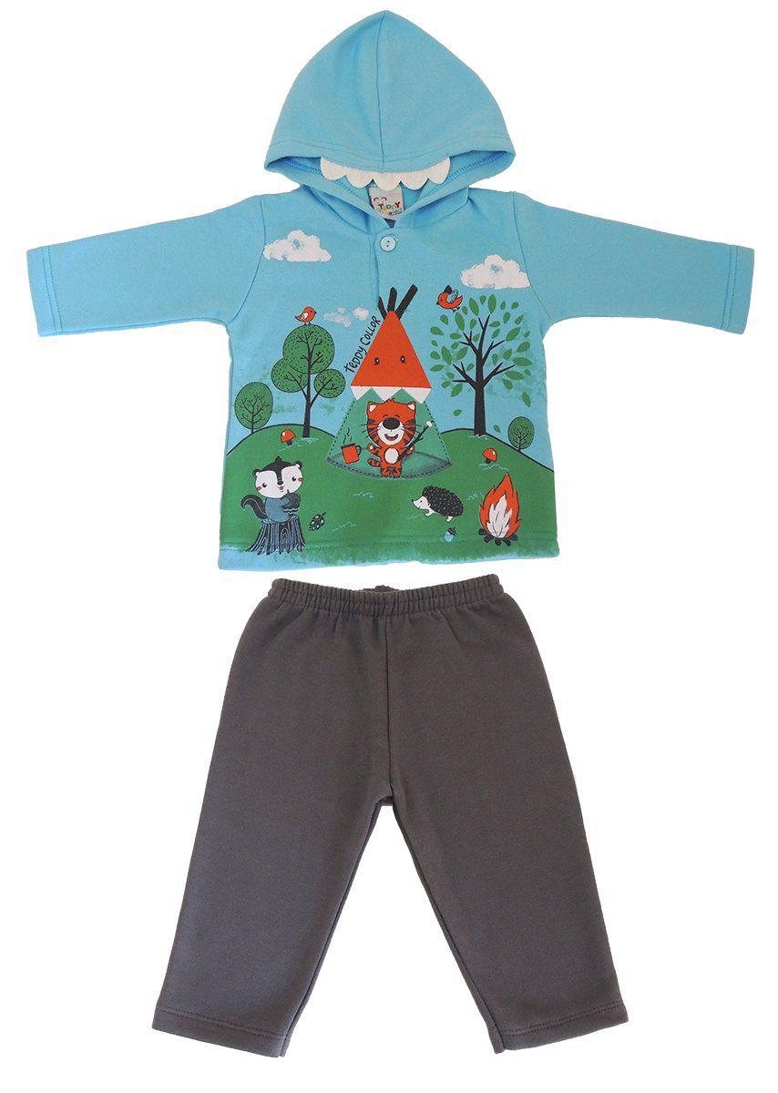 Conjunto Blusa e Calça de Moletom Bebê Menino