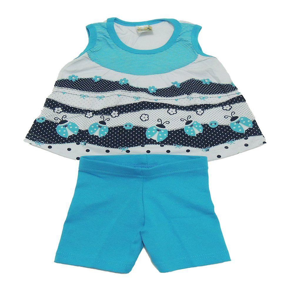 Conjunto Blusinha Regata e Shorts Infantil Menina