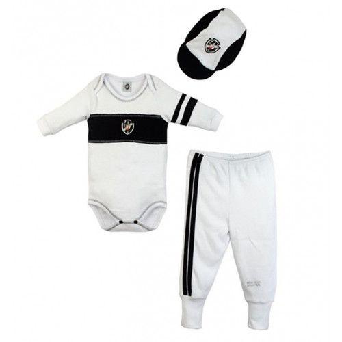 Conjunto Body Calça e Boné Bebê do Vasco - Unissex