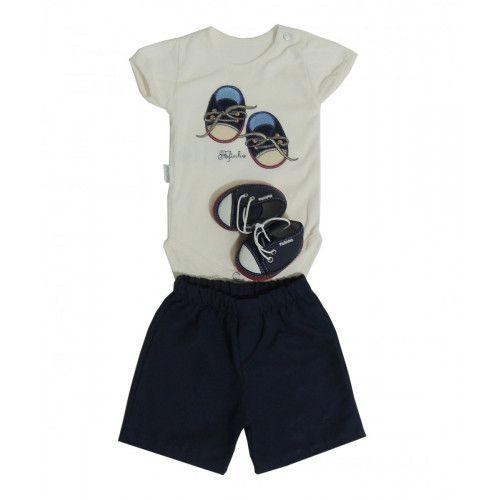 Conjunto Body e Shorts Bebê Menino Enrico