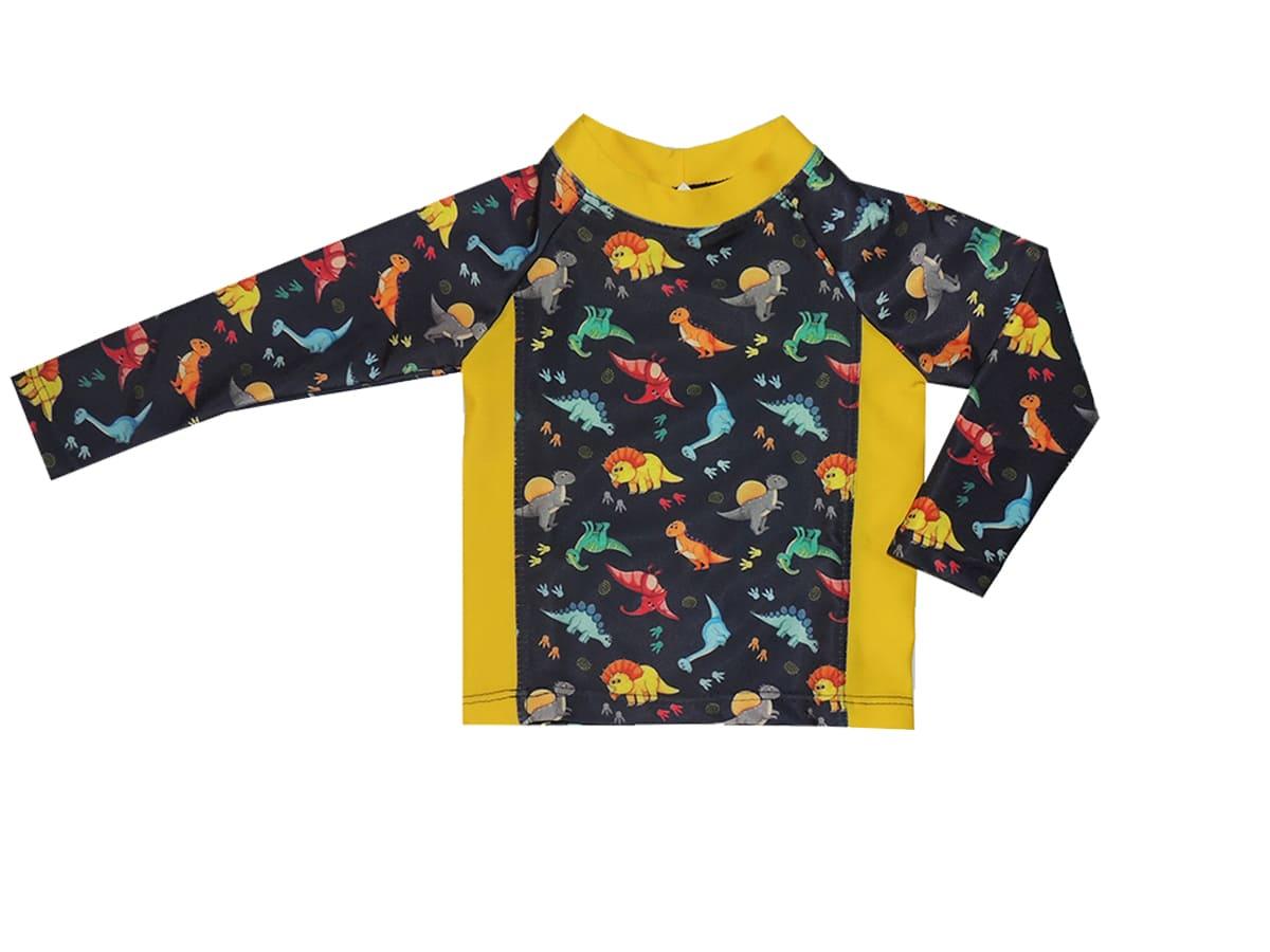Conjunto Camiseta com Sunga Estampa Dinossauros
