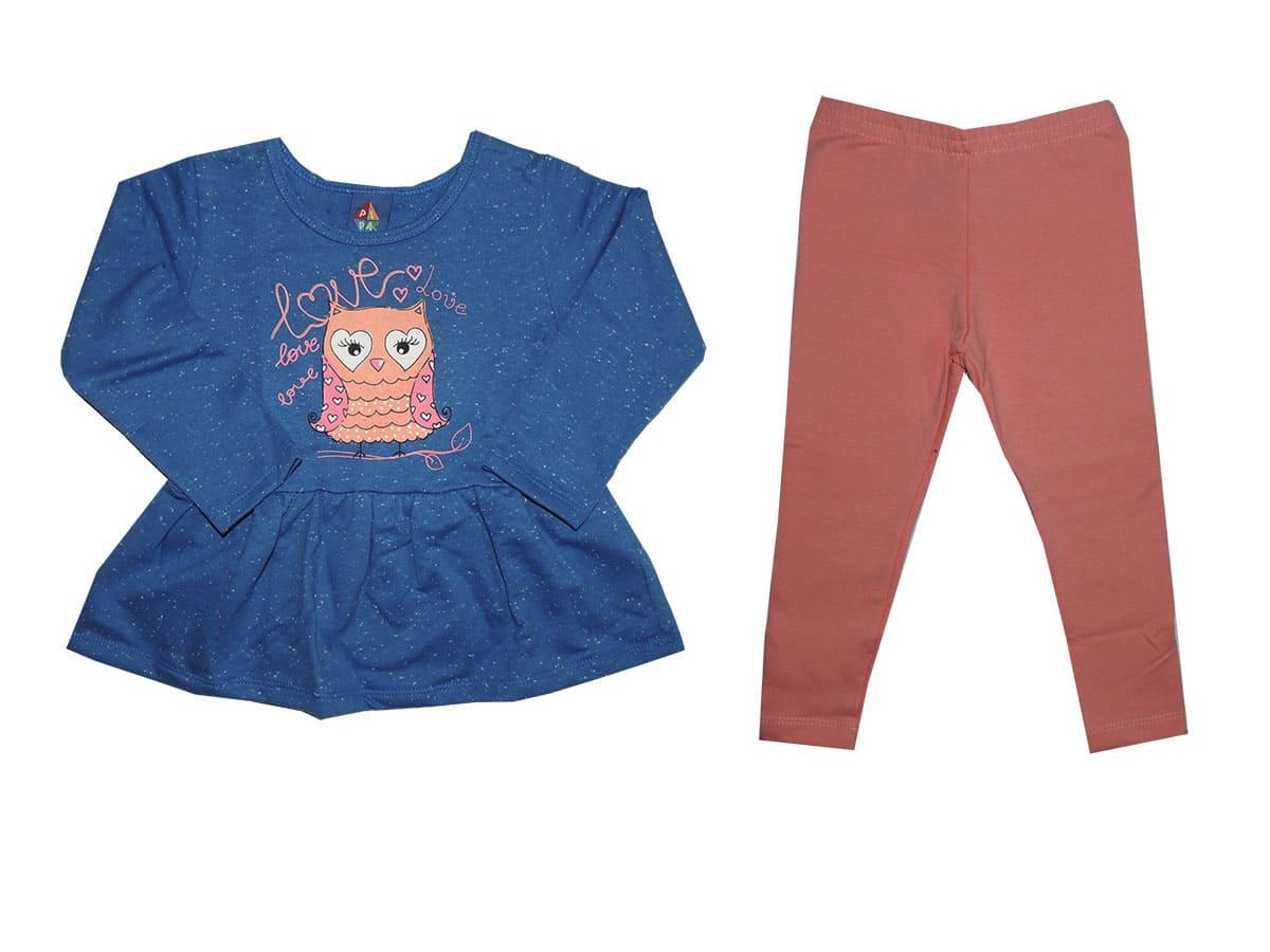 Conjunto de Moletom Blusa e Calça infantil