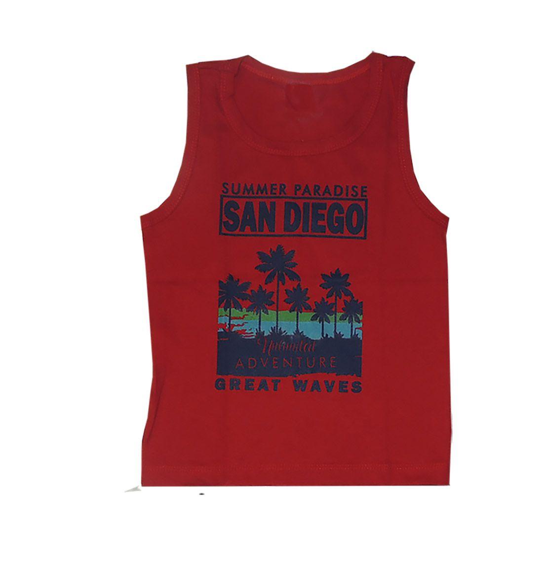 Conjunto Infantil Camiseta Regata San Diego e Bermuda