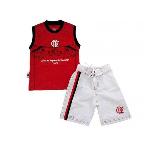Conjunto Infantil Flamengo Bermuda e Regata