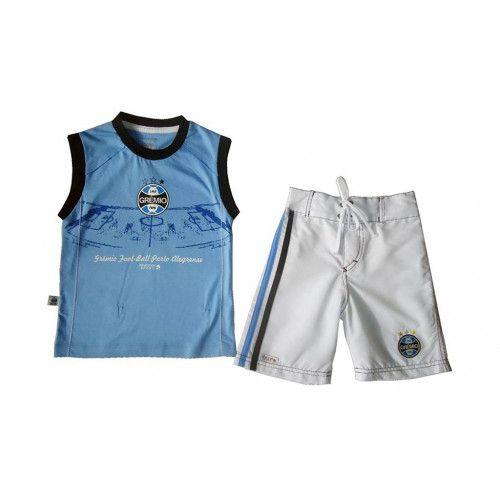 Conjunto Infantil Grêmio Bermuda e Regata