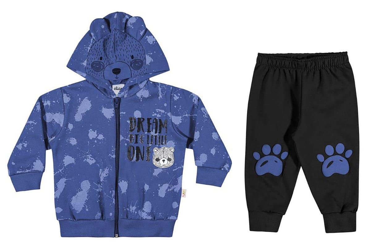 Conjunto Infantil Masculino Blusa e Calça Urso - Elian