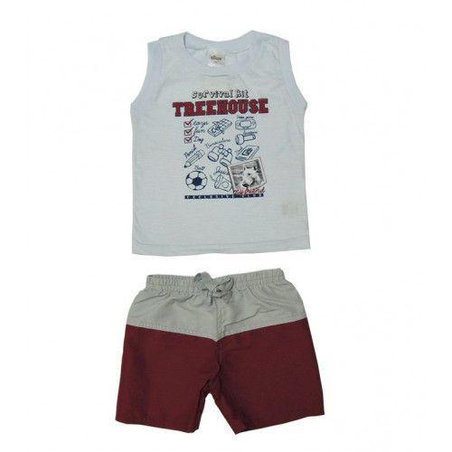 Conjunto Infantil Menino Camiseta Regata e Bermuda