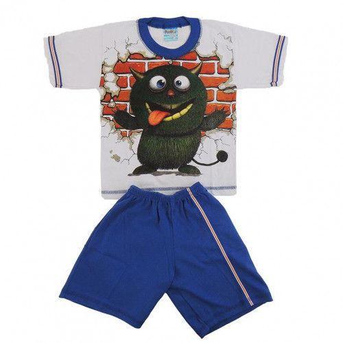 Conjunto P. Passos Camiseta Monstrinho e shorts