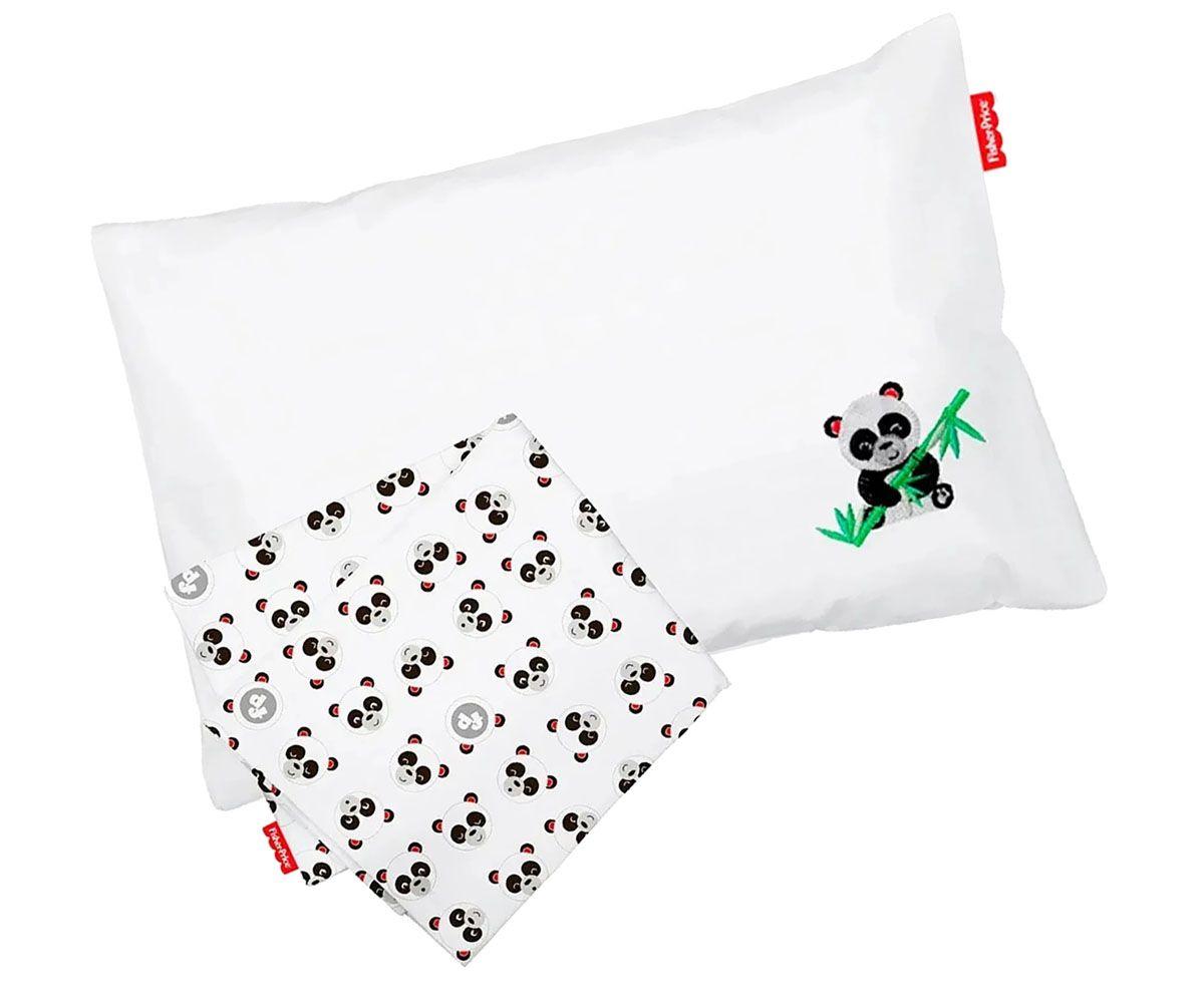 Jogo de Lençol Bebê Para Carrinho Panda - Fisher Price