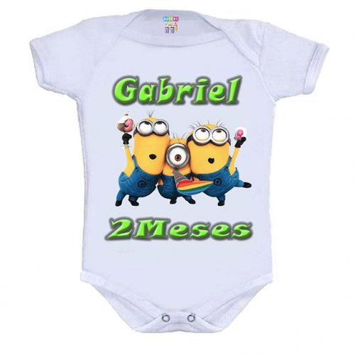 Kit 12 Bodys Mesversário Minions - Doremi Bebê
