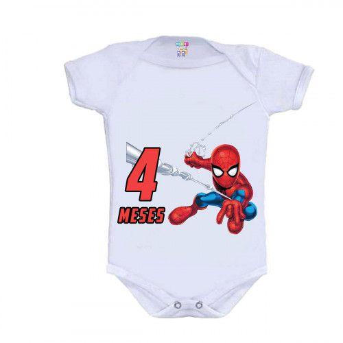 Kit 12 Bodys Mesversário Super Herois Baby - Doremi Bebê