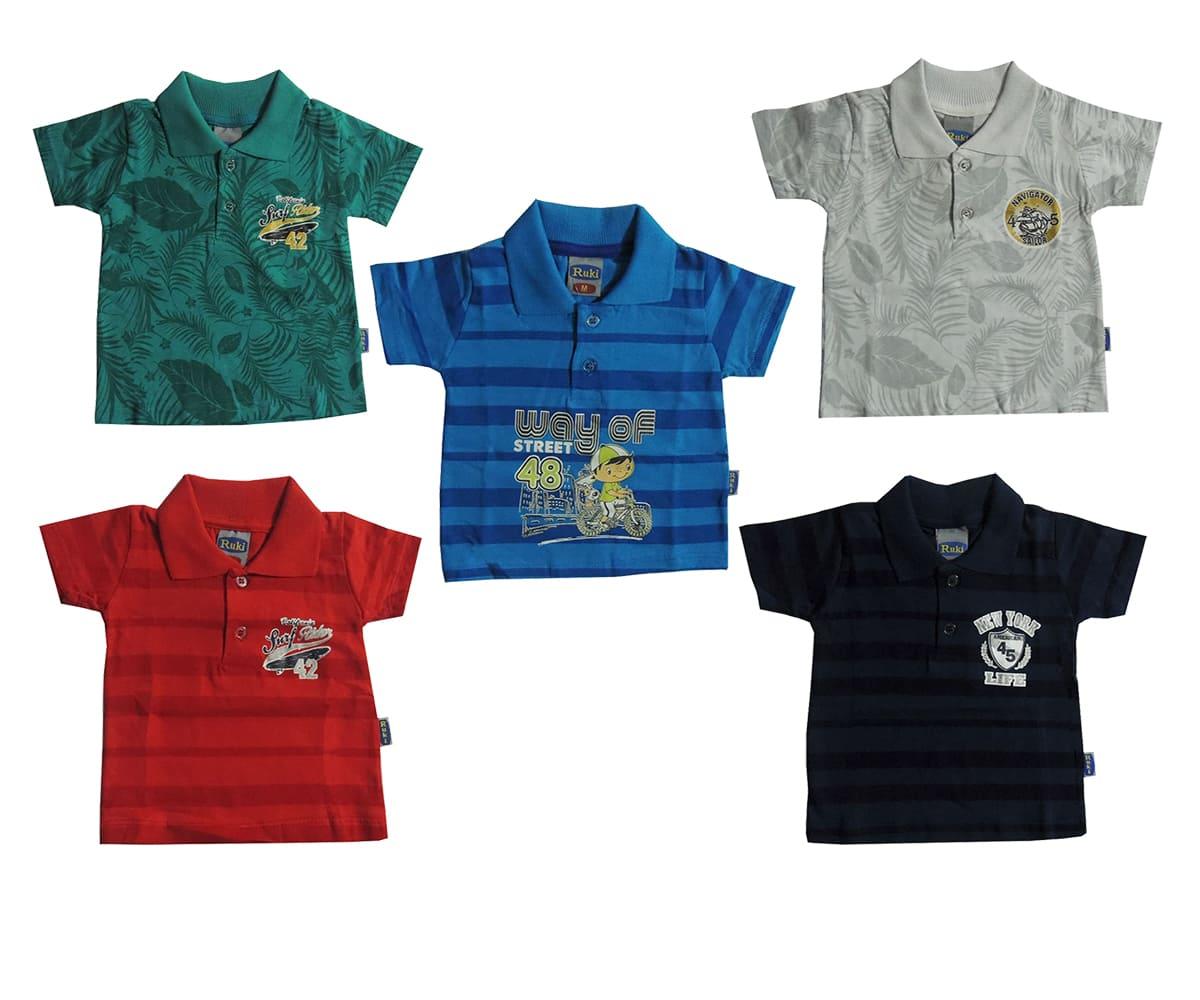 Kit 2 Camisas Estampas e Cores Sortidas