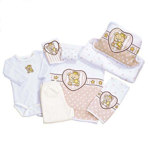 Kit Bebê 7 Peças SuperStar Bege Colibri