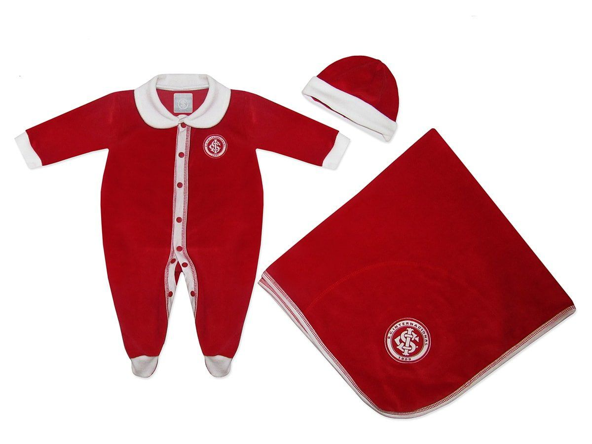 Kit Bebê Internacional Macacão Manta e Gorro - Unissex