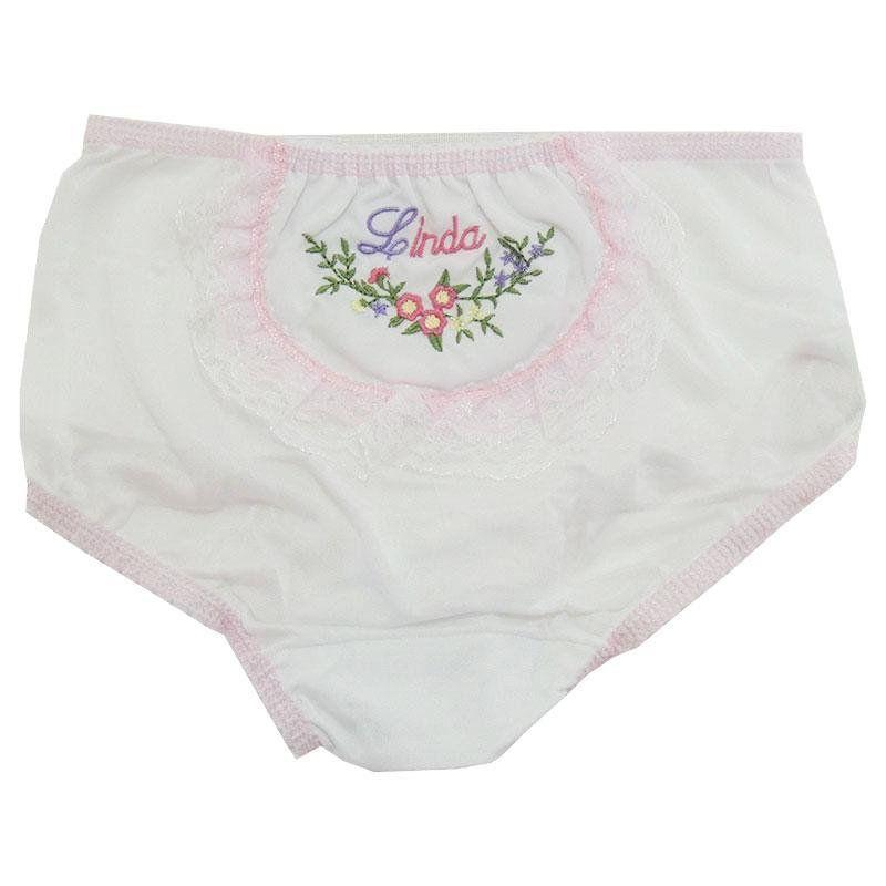 Kit de Calcinha Bebê Menina - 2 Peças Sortidas