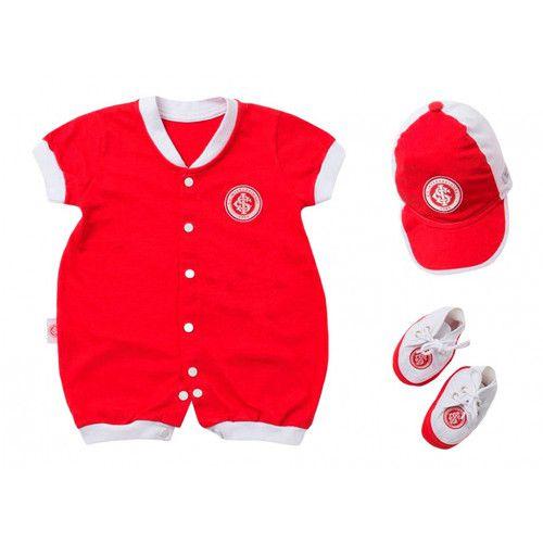 Kit Macacão Bebê Internacional 3 Peças Unissex