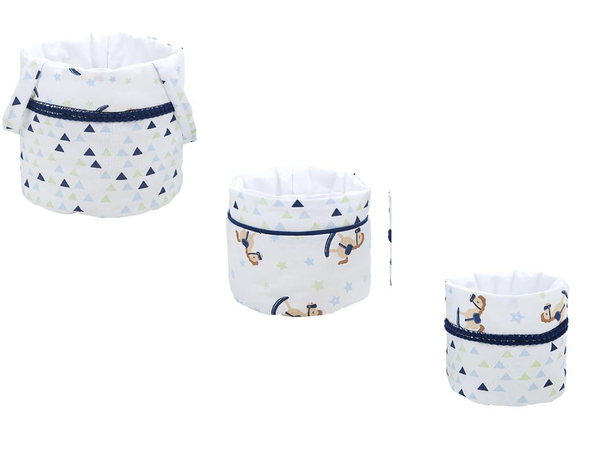 Kit Porta Trecos Estampa de Cavalinho Baby Joy