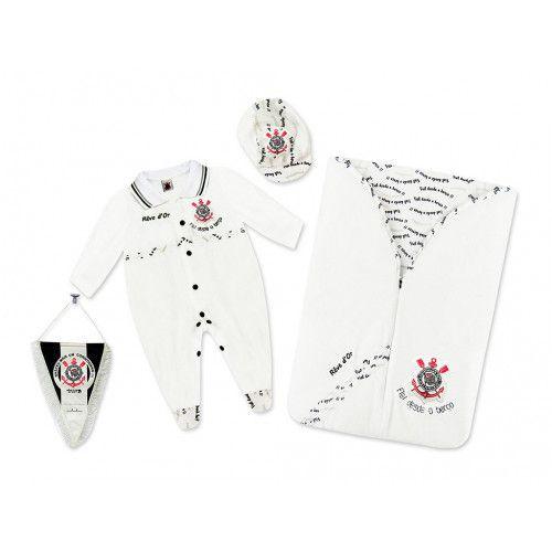 Kit Saída de Maternidade Corinthians Plush Menino