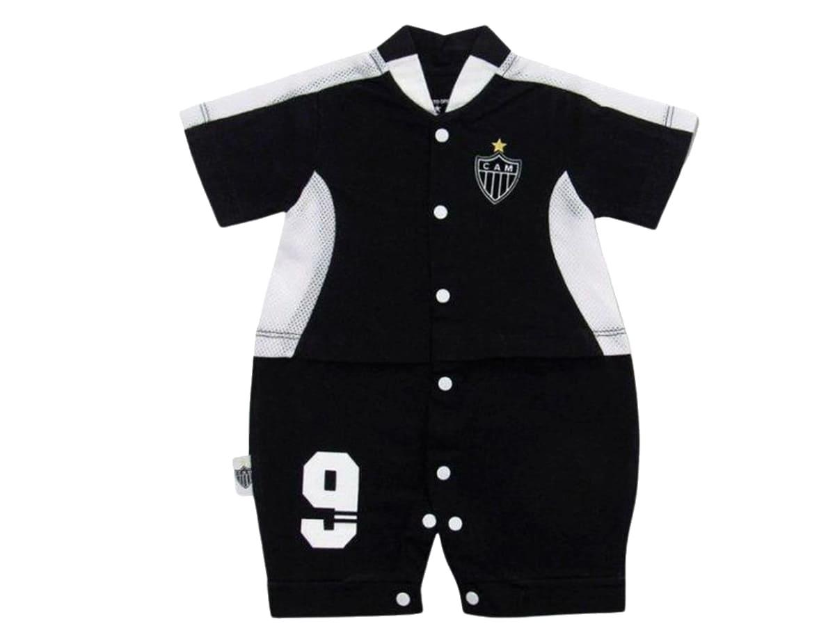 Macacão Bebê Curto Atlético MG Artilheiro Oficial