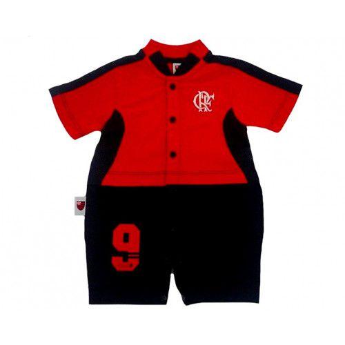 Macacão Bebê Curto Flamengo Artilheiro Oficial