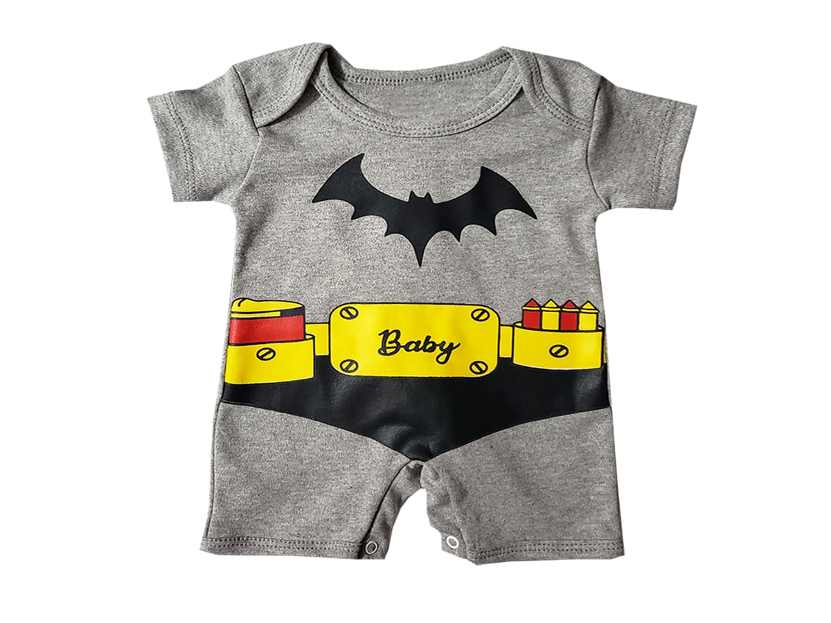 Macacão Bebê Manga Curta Baby Morcego