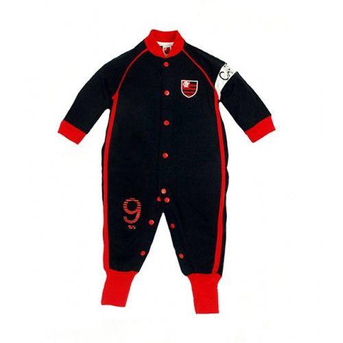 Macacão Bebê Manga Longa Flamengo Capitão